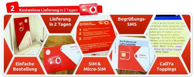 Vodafone CallYa Freikarte Testbericht