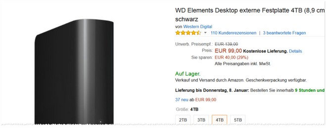 WD Elements Desktop Tests