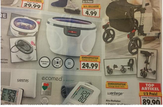 Weinberger Alu-Rollator als Kaufland-Angebot
