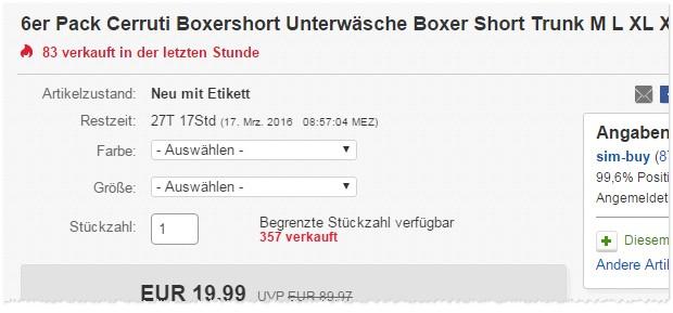 Cerruti Boxershorts