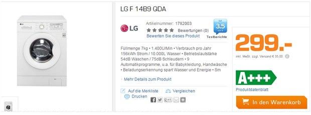 LG F 14B9 QDA Waschmaschine Saturn Angebot