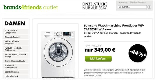 Samsung WF-7AF5E3P4W im brands4friends Outlet