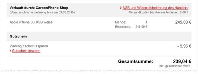 Apple iPhone 5C ohne Vertrag und gebraucht