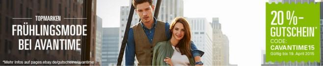 Avantime Gutschein bei eBay: Fashion Special