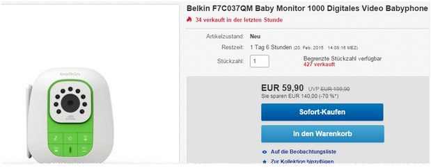 Belkin Video Babyphone