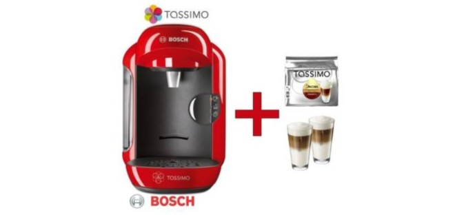 Bosch Tassimo Vivy mit WMF Gläsern im Angebot