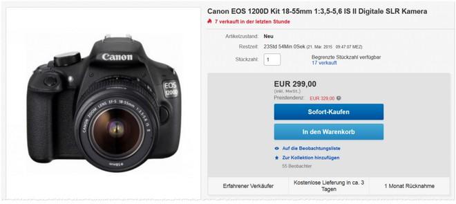 Canon EOS 1200D + Objektiv-Kit 18-55mm
