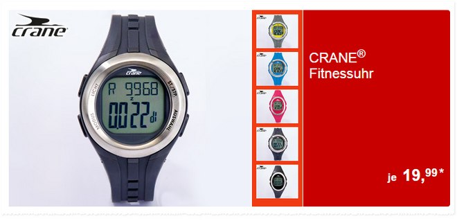 Crane Fitness-Uhr bei ALDI Süd ab 2.2.2015