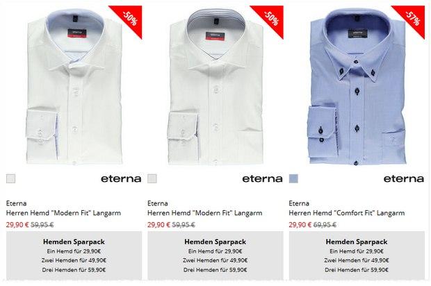 Eterna Hemden-Sparpack bei Engelhorn