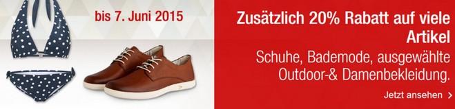 GALERIA Kaufhof Sale mit 20 Prozent Fashion-Rabatt