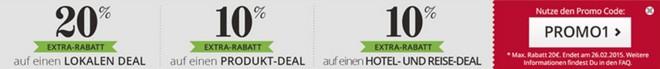 Groupon-Gutschein mit 20% Rabatt