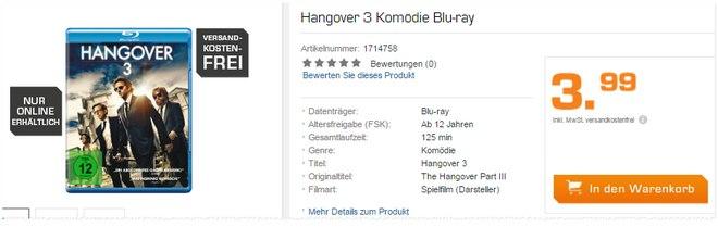 Hangover 3 Blu-ray bei Saturn