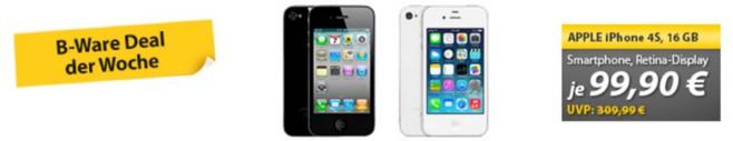 iPhone 4S ohne Vertrag als B-Ware-Angebot