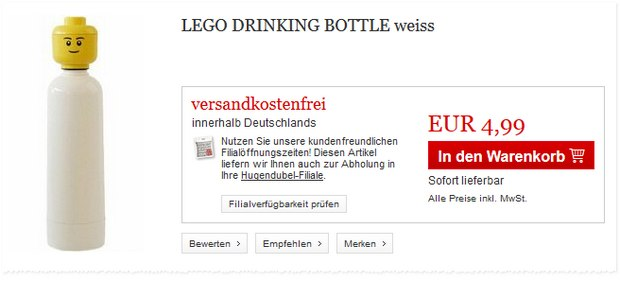 LEGO Drinking Bottle bei Hugendubel