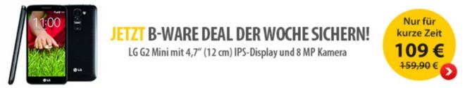 LG G2 mini ohne Vertrag als B-Ware
