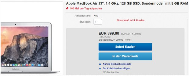 MacBook Air Sondermodell