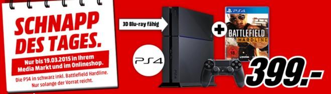Media Markt Schnapp des Tages Werbung am 19.3.2015 mit PS4