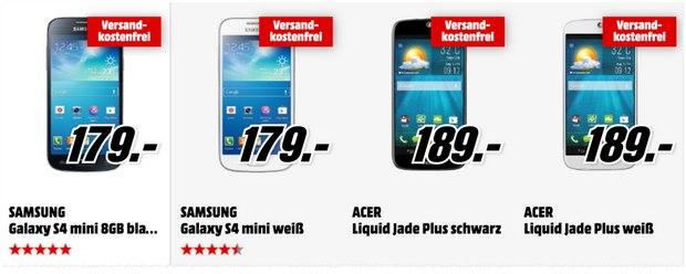 Media Markt Smartphone-Restposten am 3.3.2015