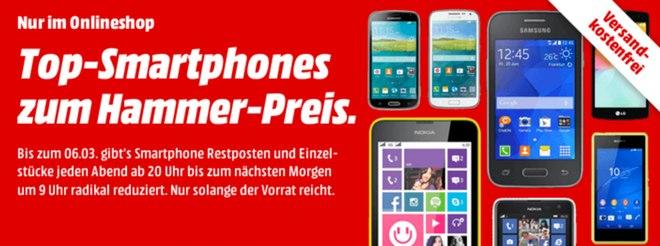 Media Markt Smartphone-Restposten
