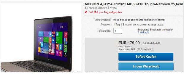 Medion Akoya E1232T MD 99410