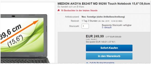 Medion Akoya E6240T MD 99290
