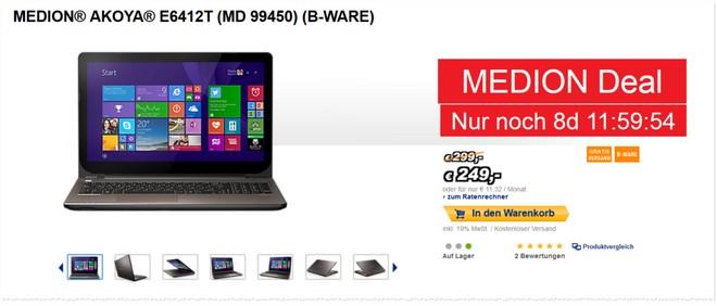 Medion Akoya E6412T MD 99450 Notebook als B-Ware