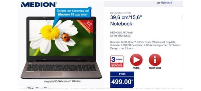 Medion Akoya E6416 MD 99560