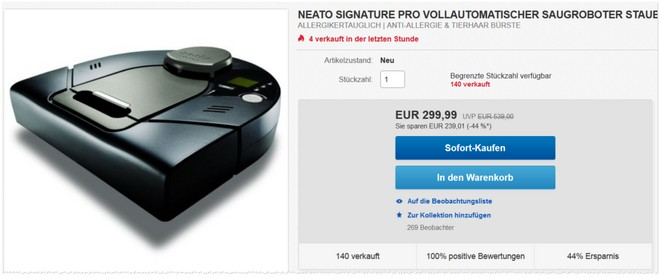 Neato Staubsauger-Roboter Signature Pro