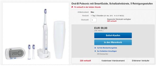 Oral-B Pulsonic mit SmartGuide