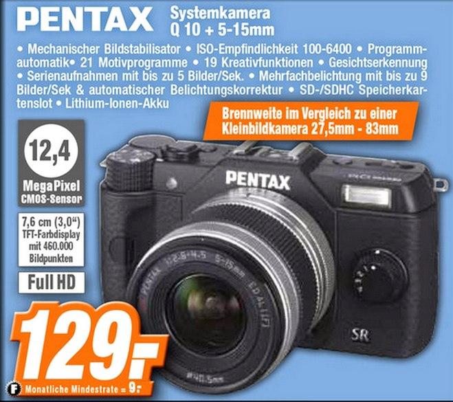 Pentax Q10 im Expert-Prospekt für 129 €
