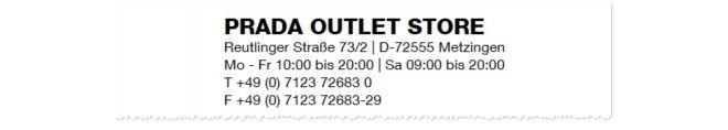 Prada Outlet Store Metzingen