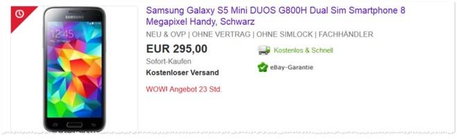 Samsung Galaxy S5 mini Duos Dual SIM