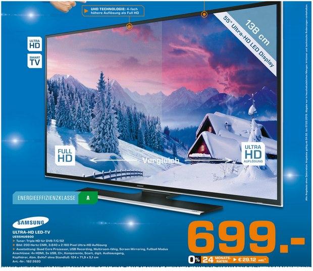 Samsung UE55HU6900: Ultra-HD-TV im Saturn Berlin 699