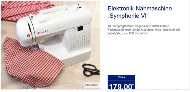 singer symphonie vi als aldi angebot ab 5 f r 179. Black Bedroom Furniture Sets. Home Design Ideas