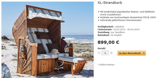 tchibo strandkorb xl online g nstiger kaufen. Black Bedroom Furniture Sets. Home Design Ideas