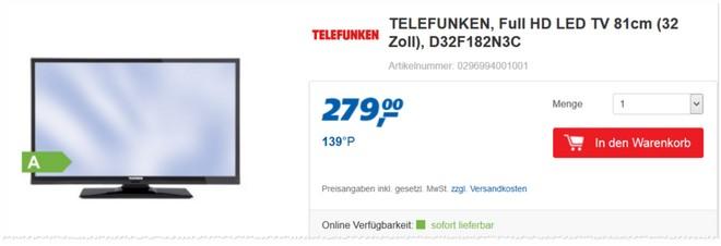 Telefunken D32F182N3C