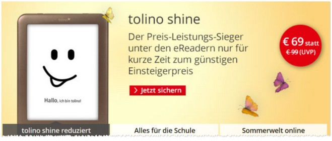 Tolino Shine E-Book-Reader-Preis-Leistungs-Sieger