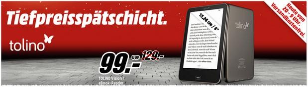 Tolino Vision in der Media Markt Tiefpreisspätschicht für 99 €
