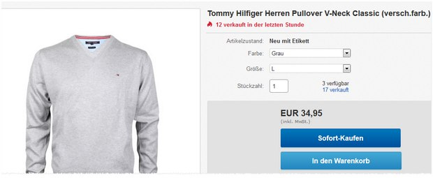 Tommy Hilfiger V-Neck-Pullover