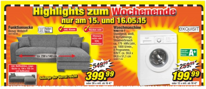 exquisit wa6110 7 poco waschmaschine aus der tv werbung. Black Bedroom Furniture Sets. Home Design Ideas