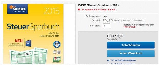 WISO Steuer-Sparbuch 2015 bei eBay