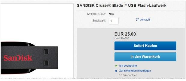 128 GB SanDisk USB-Stick