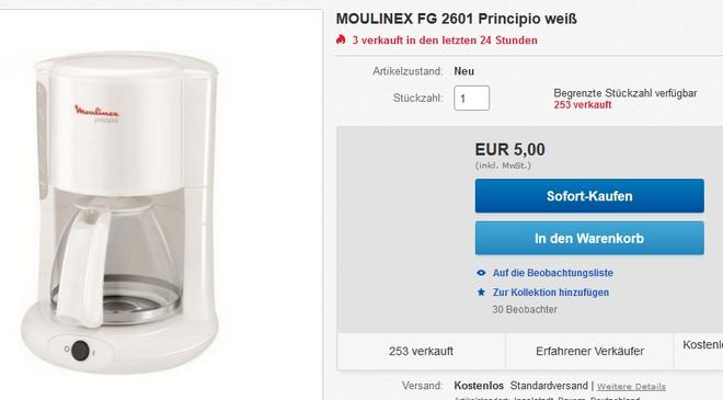 Moulinex FG 2601 Principio