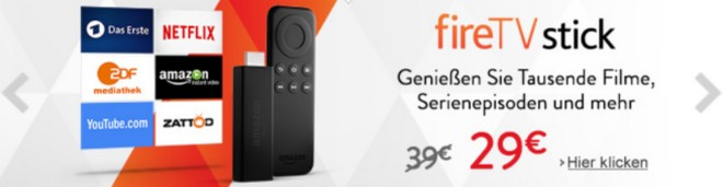 Amazon Fire-TV-Stick für 29 Euro