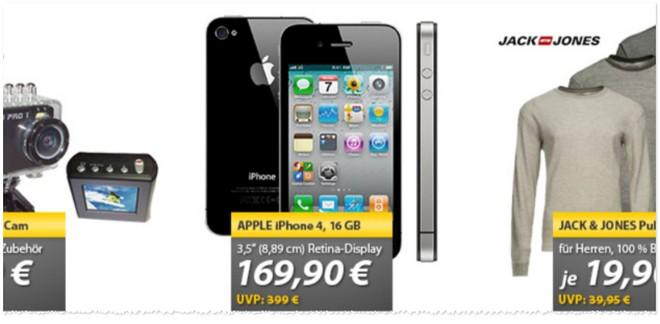 Apple iPhone 4 ohne Vertrag als Austauschgerät