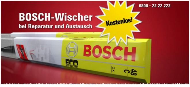 Bosch Scheibenwischer kostenlos bei Carglass