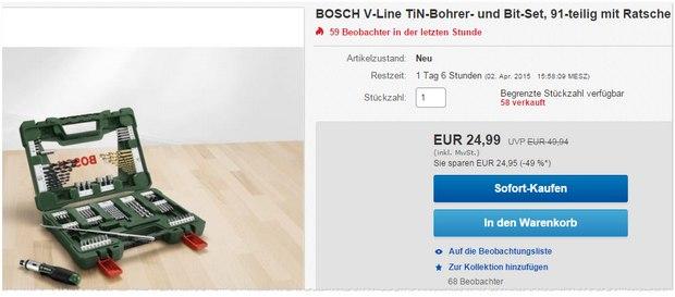 Bosch V-Line mit Ratsche & Magnetstab