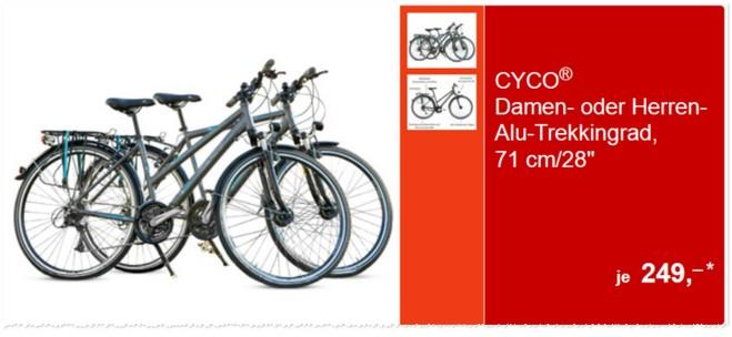 Cyco Alu-Trekkingrad als ALDI Süd Angebot ab 23.5.2015