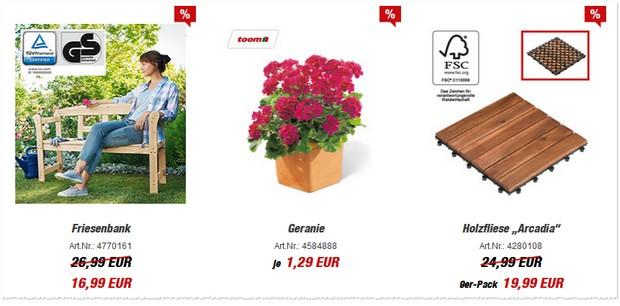 Friesenbank aus der Toom-Werbung für 16,99 €