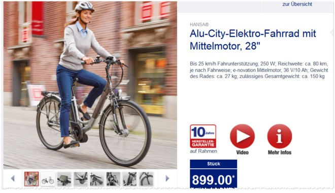 hansa alu city elektro fahrrad bei aldi ab 9. Black Bedroom Furniture Sets. Home Design Ideas